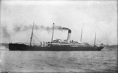 Photograph of the passenger liner 'Herefordshire' (1905) under way by unknown - print