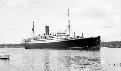 Cunard passenger liner 'Carinthia' (Br, 1925) under way by unknown - print