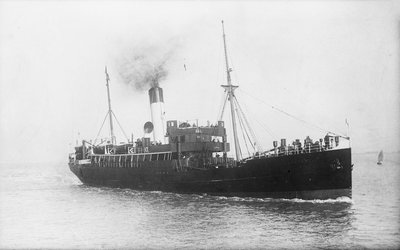 'Stockport' (Br, 1911), Under Way by unknown - print