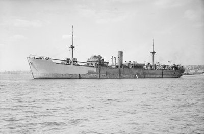 Photograph of general cargo vessel 'Baron Semple' (1939) under way in 1941-1943 by unknown - print