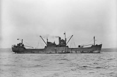 'Ragnhild' (No, 1941), ex 'Empire Carey', at anchor, Bedford Basin, Halifax N S by unknown - print