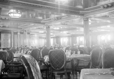 First-class dining salon aboard the 'Viceroy of India' by Marine Photo Service - print