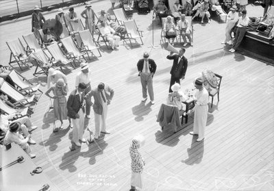 Dog Racing aboard the 'Viceroy of India' by Marine Photo Service - print