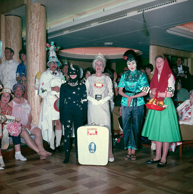 Fancy dress party aboard the 'Empress of Canada' by Marine Photo Service - print