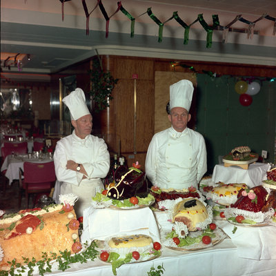 Christmas buffet aboard the 'Empress of England' by Marine Photo Service - print