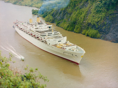 'Oriana' Passing through the Panama Canal by unknown - print