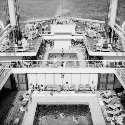 Passengers on the deck of the 'Oronsay' by Marine Photo Service - print