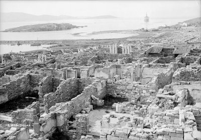The ruins of the Temple of Apollo at Delos, Greece by Marine Photo Service - print