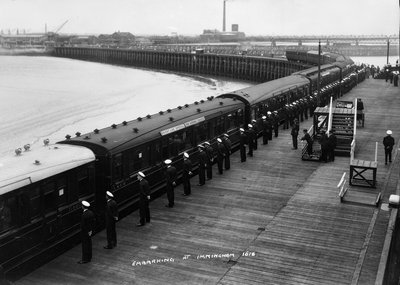The railway station at Immingham Dock by Marine Photo Service - print