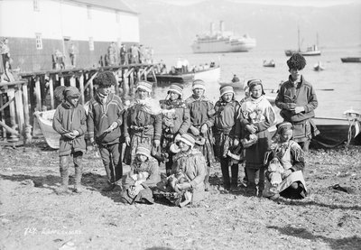 Sami people of northern Norway, circa 1935 by Marine Photo Service - print