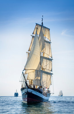 Mainmast brigantine 'Pelican of London' during Waterford Tall Ships Race 2011 by Richard Sibley - print