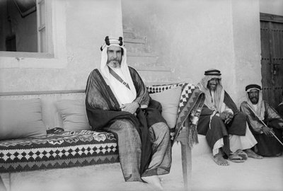 Sheikh Ali Al-Khalifa, Director of Public Security and governor of Kuwait City by Alan Villiers - print