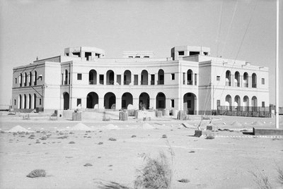 The Lutyens designed British Political Agency, Kuwait by Alan Villiers - print