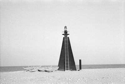 Lighthouse at entrance to Kuwait Bay by Alan Villiers - print