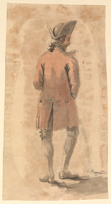 Back view of man urinating by Gabriel Bray - print