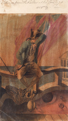 A midshipman on board the 'Pallas' at sea by Gabriel Bray - print