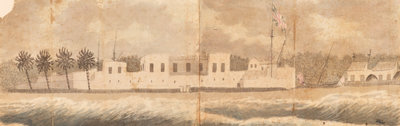 A View of the Fort at Senegal taken from the Road by Gabriel Bray - print
