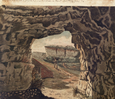 A Close View in a Chalk Pit at Upper Deal in Kent by Gabriel Bray - print