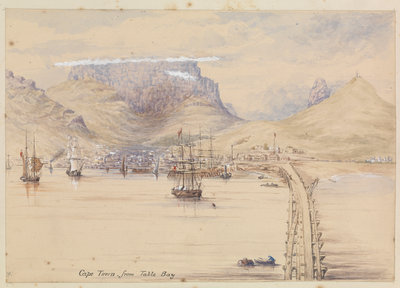Cape Town from Table Bay by James Henry Butt - print