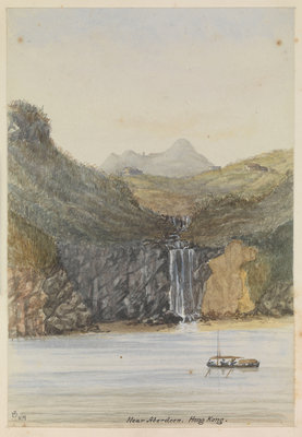 'Near Aberdeen, Hong Kong.' [China] by James Henry Butt - print