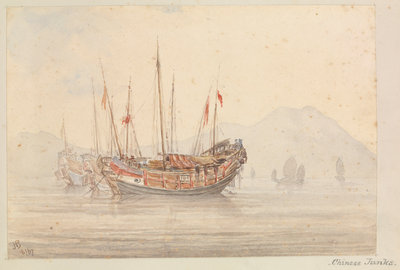 Chinese junks by James Henry Butt - print