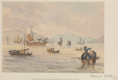 Chinese boats by James Henry Butt - print