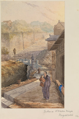 Entrance to Waka Miya, Nagasaki, Japan by James Henry Butt - print