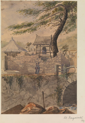 At Nagasaki, Japan by James Henry Butt - print