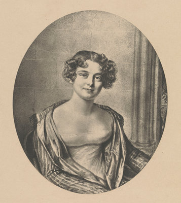 Lady Jane Franklin (1792-1875) by Joseph Mathias Negelen - print