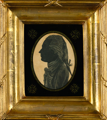 Silhouette of Cuthbert Collingwood drawn by Horatio Nelson when both were serving in the West Indies by Horatio Nelson - print
