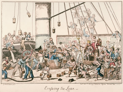 Crossing the Line by George Cruikshank - print