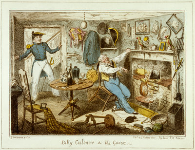 Billy Culmer & The Goose by George Cruikshank - print