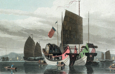 Chinese Junks by Thomas Daniell - print