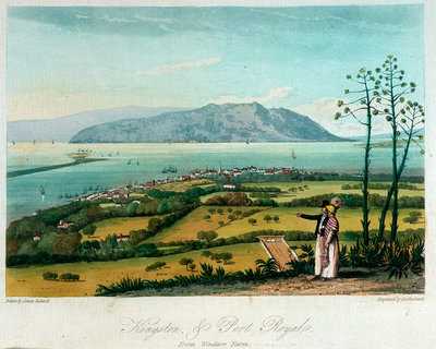 Kingston, and Port Royal from Windsor Farm by James Hakewill - print