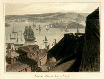 Catwater, Plymouth, from the Citadel by William Daniell - print