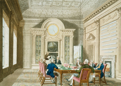 Board room of the Admiralty by Thomas Rowlandson - print