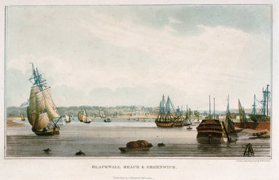 Blackwall Reach & Greenwich by W.H. Timms - print