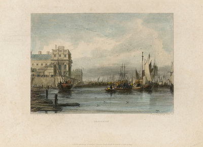 Greenwich (Greenwich Hospital and River Thames) by Augustus Wall Callcott - print