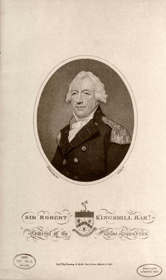 Sir Robert Kingsmill Bart Admiral of the Blue Squadron by Lemuel Francis Abbott - print
