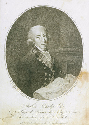 Arthur Phillip Esq Captain General & Commander in Chief, in & over the Territory of New South Wales by Francis Wheatley - print
