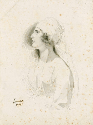 Emma, Lady Hamilton by Thomas Lawrence - print