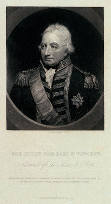 The Right Hon. Earl St. Vincent, Admiral of the Fleet, G.C.B. &c. by William Beechey - print