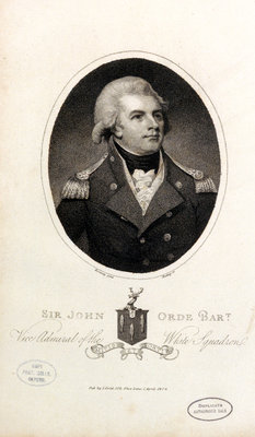 Sir John Orde Bart, Vice Admiral of the White Squadron by George Romney - print