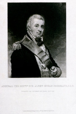 Admiral The Honourable Sir Alexeander Inglis Cochrane, G.C.B. by William Beechey - print