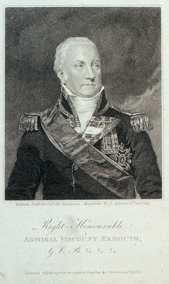 Admiral Viscount Exmouth by Samuel Drummond - print