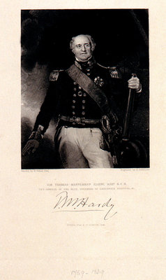 Sir Thomas Masterman Hardy, Bart, G.C.B. Vice Admiral of The Blue, Governor of Greenwich Hospital Fine Art Print by Richard Evans