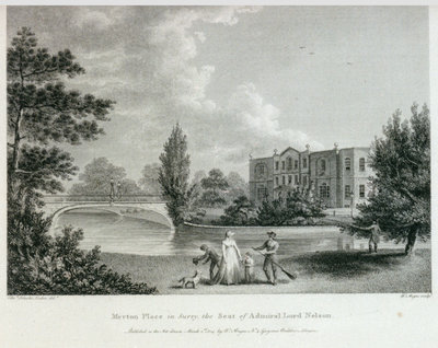 Merton Place in Surry, the Seat of Admiral Lord Nelson by Edward Hawke Locker - print