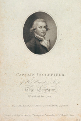 Captain Inglefield of His Majesty's Ship The Centaur wrecked in 1782 Fine Art Print by George Engleheart