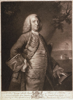 George Anson (1697-1762) by Joshua Reynolds - print