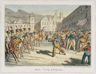 Jack's Trump of Defiance by George Cruikshank - print